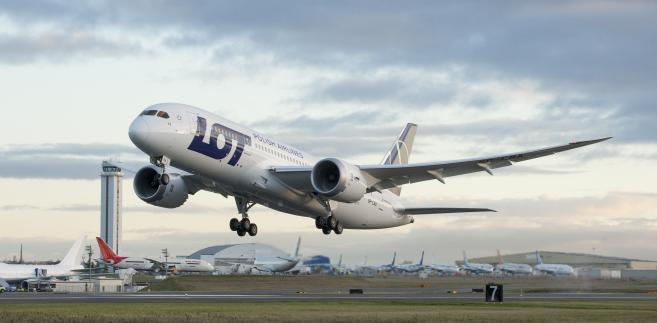Start Boeinga 787 Dreamliner w barwach PLL LOT