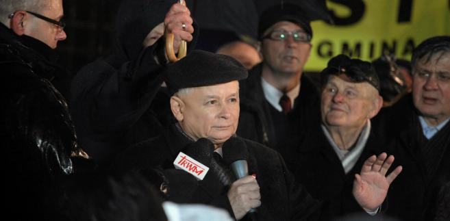 Prezes PiS podczas Marszu Wolności, Solidarności i Niepodległości.
