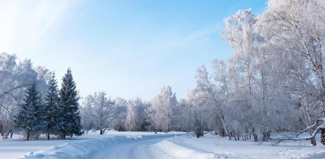 Zima, śnieg, droga
