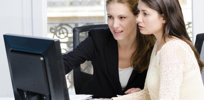praca, komputer, internet, kobieta