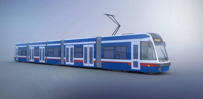 Jeden z możliwych wariantów malowania dla tramwajów Swing w Bydgoszczy. Źródło: materiały prasowe.