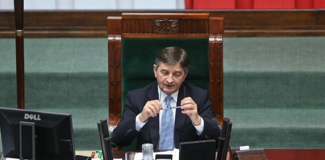 Marszałek Sejmu Marek Kuchciński podczas posiedzenia Sejmu
