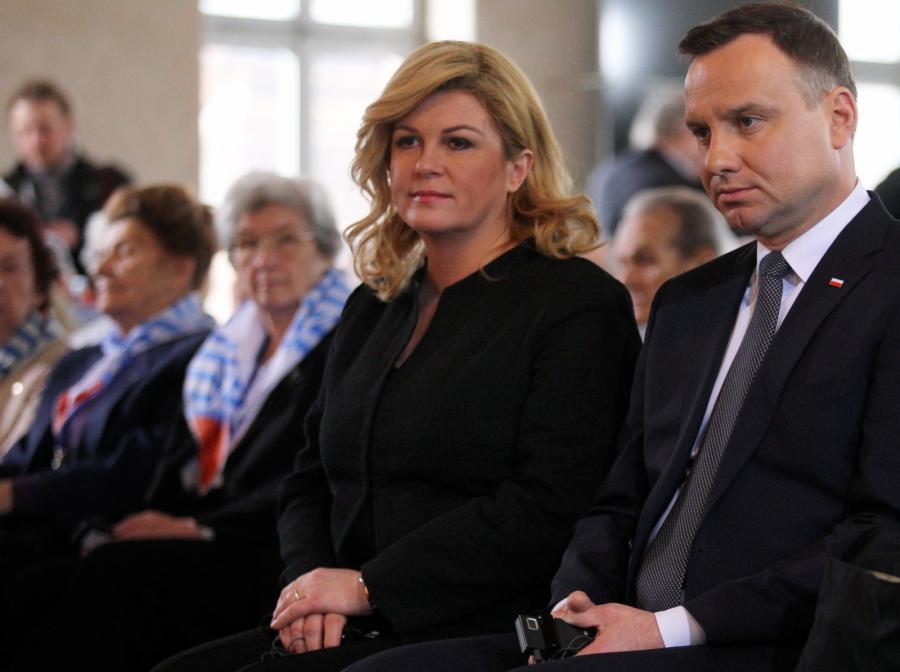 Prezydent Andrzej Duda i prezydent Chorwacji Kolinda Grabar-Kitarović ...