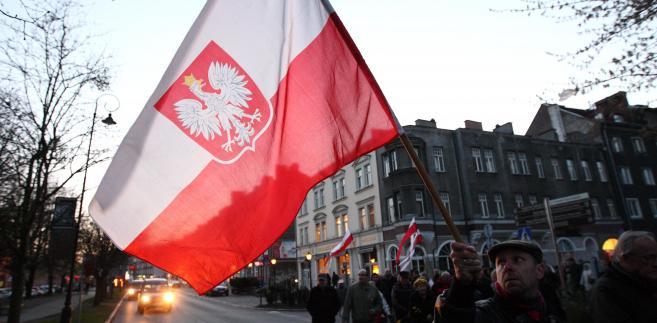 Marsz milczenia w intencji ofiar katastrofy smoleńskiej w Gdańsku
