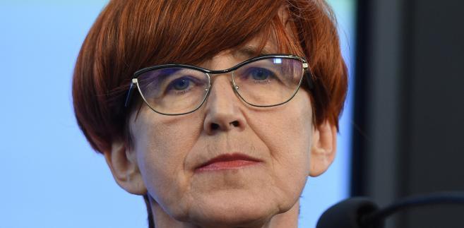Minister rodziny, pracy i polityki społecznej Elżbieta Rafalska,