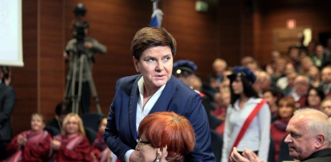 Premier Beata Szydło podczas inauguracji roku akademickiego 2016/2017 w gorzowskiej Akademii im. Jakuba z Paradyża