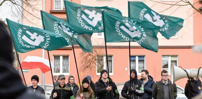 Manifestacja ONR w Częstochowie.