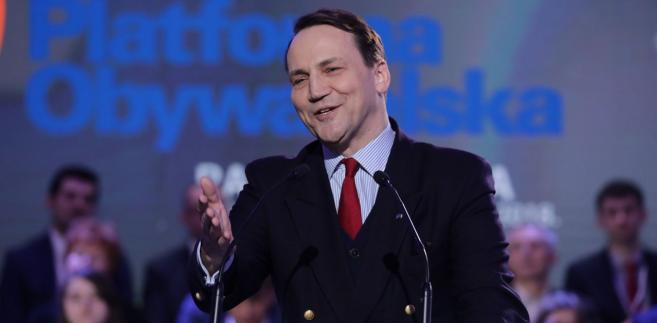 Radosław Sikorski na Radzie Krajowej PO