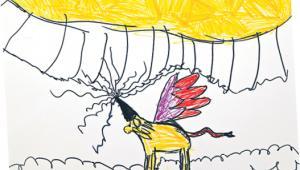 Rys. Hanna Kościuszko, lat 10