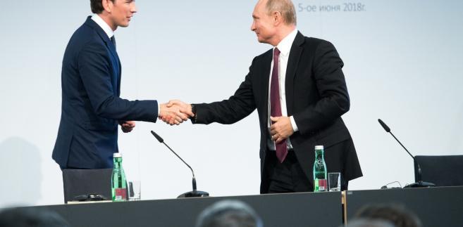 Spotkanie Putina z Kurzem