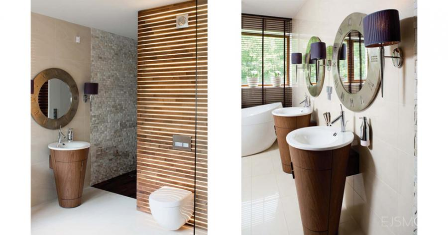 Nowoczesna łazienka - projekt Ejsmont