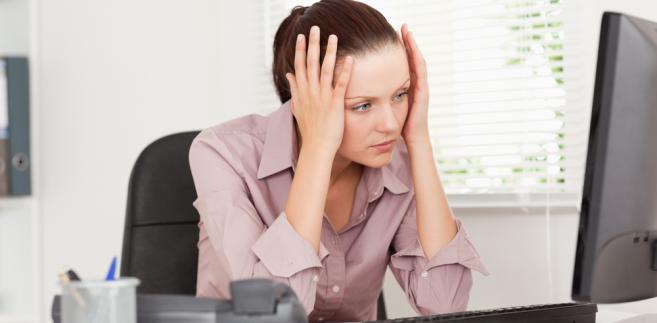 praca, kobieta, komputer