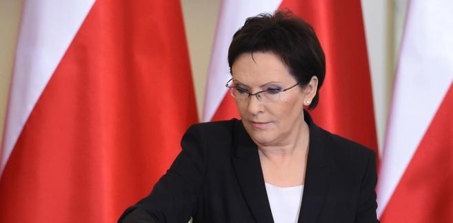 Premier Ewa Kopacz, podczas ceremonii zaprzysiężenia rządu, 22 bm. w Pałacu Prezydenckim w Warszawie. (mr) PAP/Radek Pietruszka