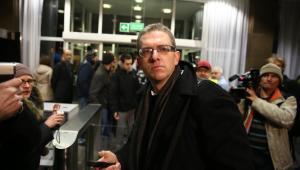 Reżyser Grzegorz Braun w siedzibie PKW