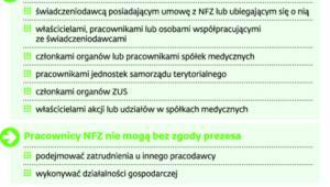Szczególne warunki zatrudnienia w NFZ
