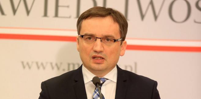 Minister Sprawiedliwosci Zbigniew Ziobro