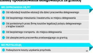 Zasady opodatkowania delegowanych za granicę