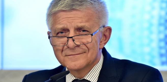 Prezes Narodowego Banku Polskiego Marek Belka,