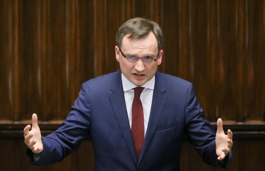 Minister sprawiedliwości, prokurator generalny Zbigniew Ziobro podczas posiedzenia Sejmu