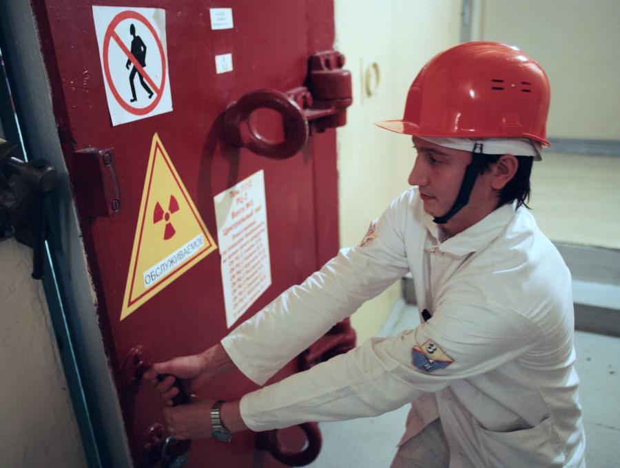 Pracownik elektrowni atomowej w Rosji