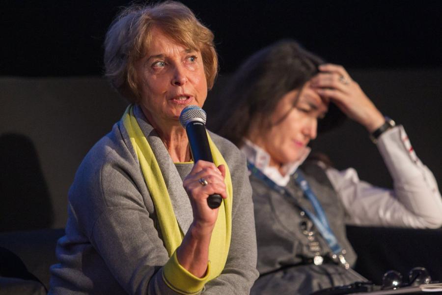 Prof. dr hab. Elżbieta Traple podczas Europejskiej Konferencji Filmowej. Fot. Legalna Kultura