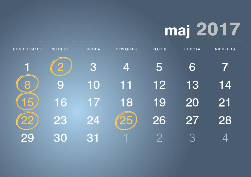 Kalendarz podatnika maj
