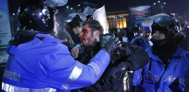 Jeden z protestów w Rumunii