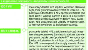 Plany rządu autorstwa resortu zdrowia pod kierownictwem ministra Konstantego Radziwiłła