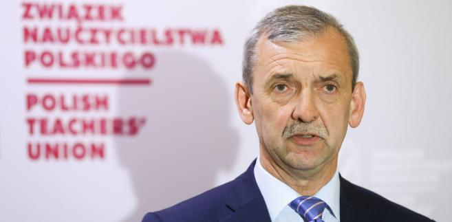 Prezes ZNP Sławomir Broniarz