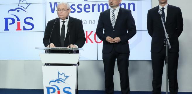 Kaczyński wraz z Ziobro (SP) i Ociepą (Porozumienie) ogłosili kandydatów na prezydentów miast