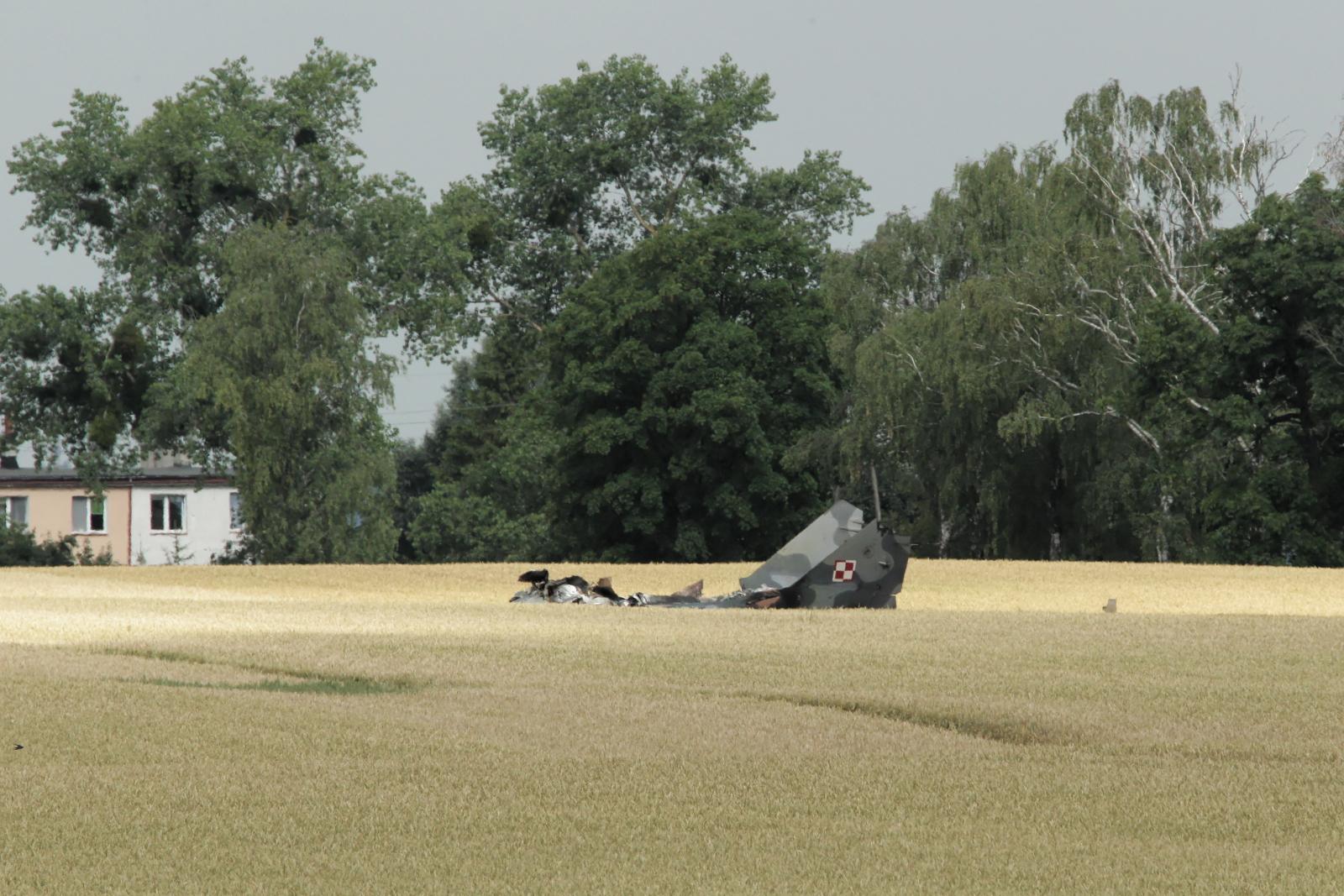 Wypadek samolotu wojskowego MiG 29 zdjęcie