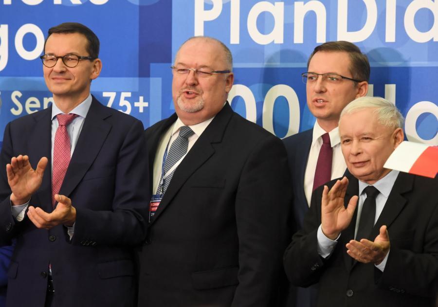 Kaczyński i Morawiecki w Łodzi