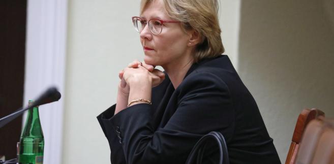 Kandydatka PiS na RPD dr Agnieszka Maria Dudzińska podczas wspólnego posiedzenia sejmowych Komisji