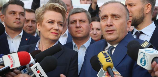 Grzegorz Schetyna i Hanna Zdanowska