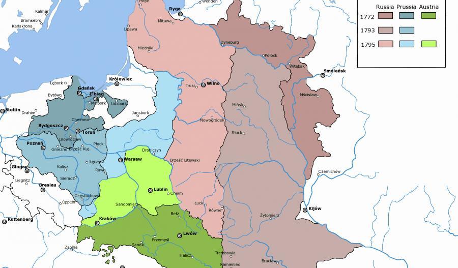 Rozbiory Polski, autor: Halibutt, CC-BY-SA 3.0