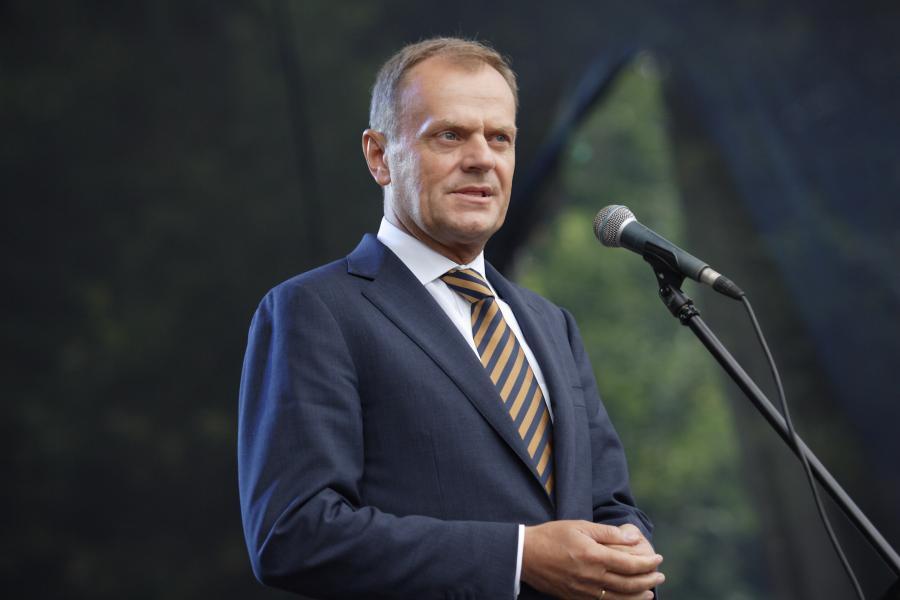 """Premier Donald Tusk jest """"jedynką"""" na liście wyborczej PO w Warszawie."""