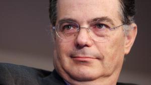 Prezes Narodowego Banku Węgier Andras Simor. O jego zarobki toczy się spór z UE.