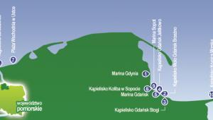 Plaże i mariny wyróżnione Błękitną Flagą (woj. pomorskie)