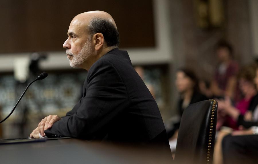 Szef Fed Ben S. Bernanke na posiedzeniu komisji senackiej.