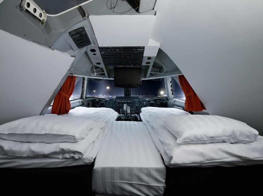 Hostel Jumbo Stay w Sztokholmie proponuje swoim gościom nocleg we wnętrzu Boeinga 747, potocznie zwanego Jumbo Jetem