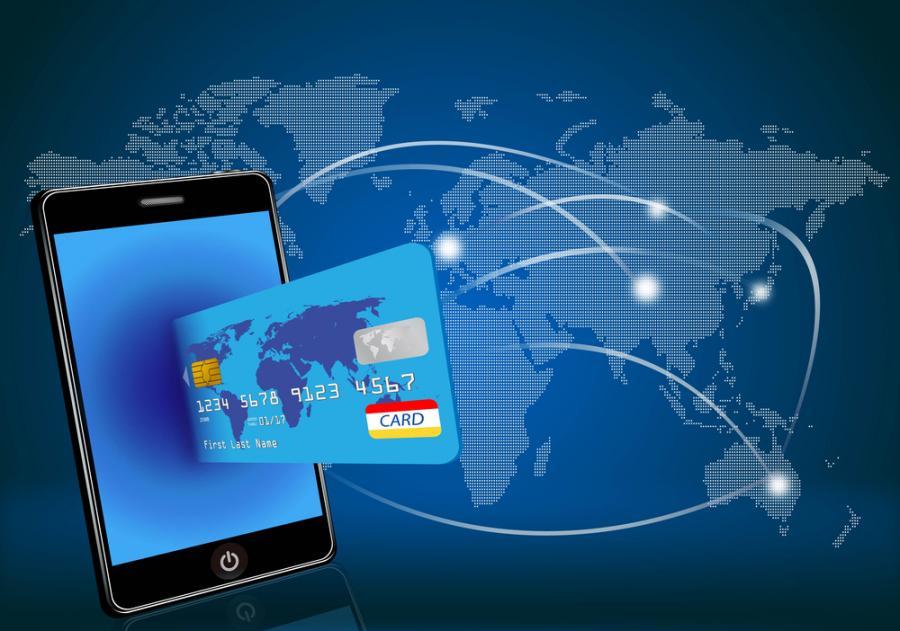 telefon, karta płatnicza, banki